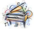 Piano Sketch - 73843551