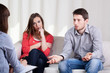 Couple with problems during psychotherapy