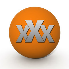 XXX circular icon on white background