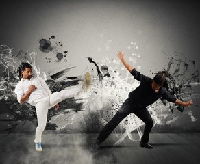 Capoeira fighting