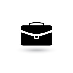 Vector briefcase black icon