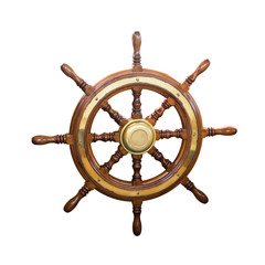 Steering wheel of  boat