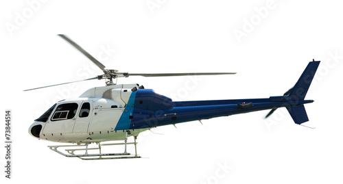 Leinwanddruck Bild Flying helicopter