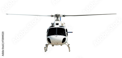 Flying helicopter with working propeller - 73844520