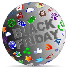 sphere black friday social media icons