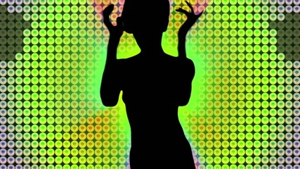 Led wall dance silhouette.