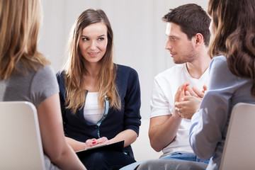 Meeting during psychotherapy