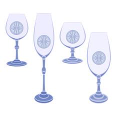 Champaign glasses  cut glass vector
