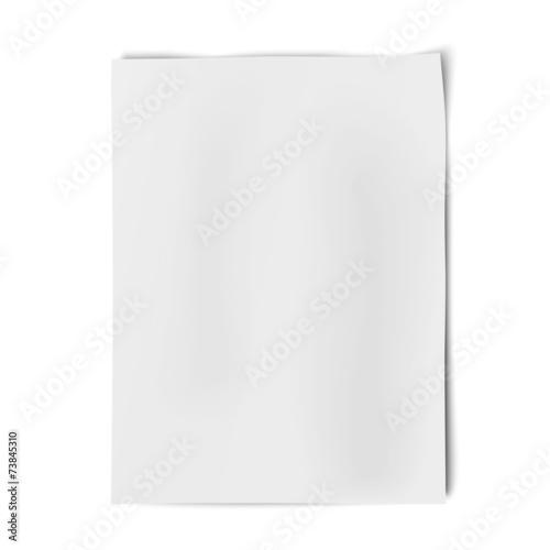 Fototapeta Vector sheet of white paper isolated