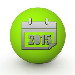 calendar circular icon on white background