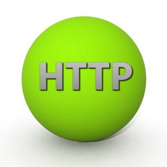 http circular icon on white background