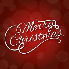 Diseño de letras de tarjeta de navidad
