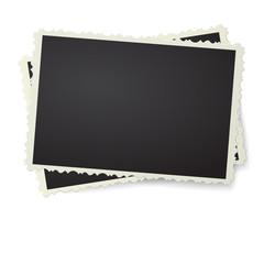 Retro photo frame isolated