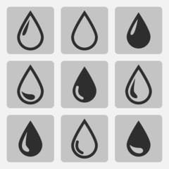 Vector drop  black icons