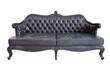 vintage luxury black sofa isolated on white background - 73849125