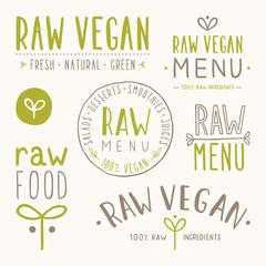 Raw vegan badges.