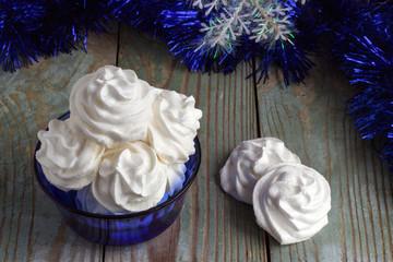 meringue cookies in a vase white