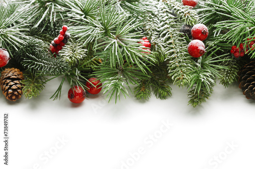Aluminium Bomen Christmas tree branches background