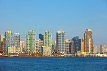 City of San Diego California, USA downtown buildings