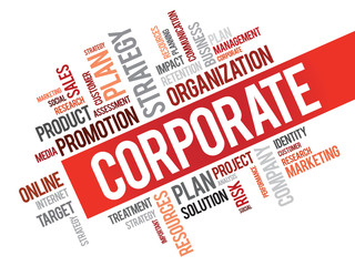 Word Cloud with Corporate related tags, vector business concept