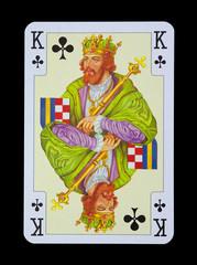 Spielkarten in Luxus und Nostalgie - Kreuz König