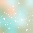 Vector background blur with a molecular structure