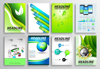 Set of Flyer Design, Infographic layout. Brochure Designs