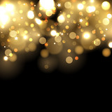 Gold bokeh background poster