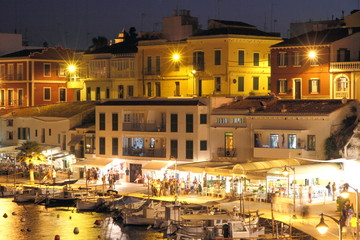 Cales Fonts at dusk, Es Castell, Minorca, Spain