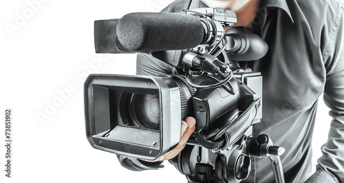 canvas print picture Video operator