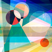 abstract geometric illustration,circles and triangles