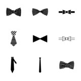 Fototapety Vector bow ties icon set
