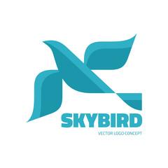 Sky bird - vector logo concept illustration