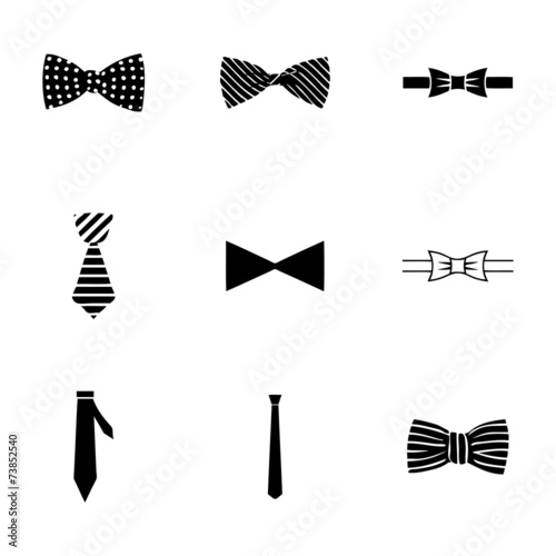 Vector bow ties icon set - 73852540