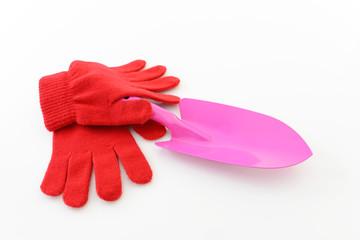 ガーデニングスコップと作業用手袋