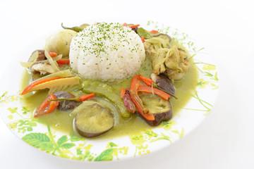 美味しそうなグリーンカレー