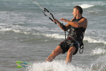 Kite surfer Cullera Spain