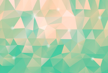 Light Blue Triangle Polygon Background With Glowing