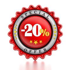 -20% discount label