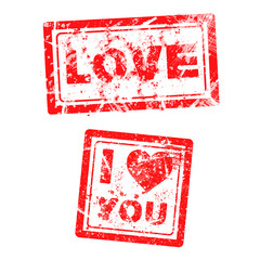 love concept grungy rubber stamp
