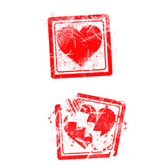 love concept grungy rubber stamp isolated on white background