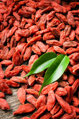 top view of dried goji berries