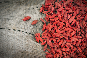 top view of dried goji berries