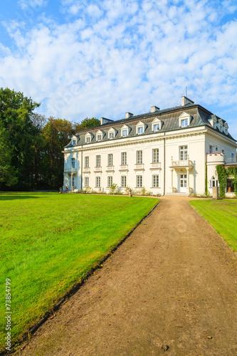 Leinwanddruck Bild Beautiful palace in Radziejowice village near Warsaw, Poland