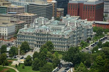Eisenhower Old Executive Office aerial View in Washington