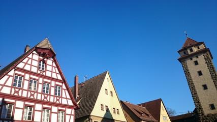 Altstadt häuser und Turm rothenburg ob der tauber