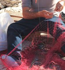 cucitura delle reti da pesca