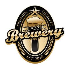 Vintage Brewery label