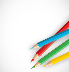 Color pencils on a white background vector