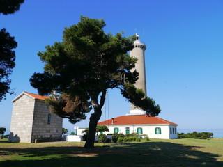 The lighthouse of Veli Rat on Dugi Otok in Croatia